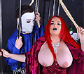 Mistress Jemstone beating up halloween wildman Michael Myers
