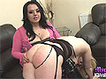 Mistress Jemstone burns Mels juicy tits then spanks her butt