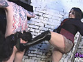 Mistress Jemstone whips sub Billy Locos ass and devil tattoo