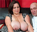 Mature Roxy J gets her bazzookas and cunt fucked by salesman
