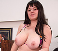 Faith Bloom having fun playing with melons and multiple bras