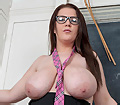 British Kirsty showing off her curvy figure in the classroom