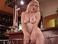 Big tits Petra revealing her hooters and curvy body in a bar